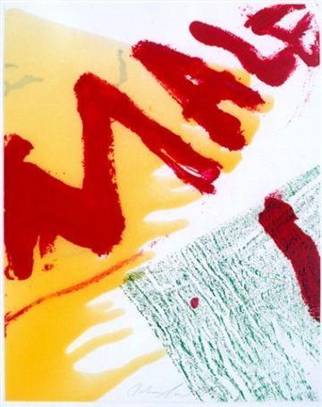 """John Hoyland """"Garden Moon"""" and Julian Schnabel """"Malfi"""" Ausstellung Wien"""