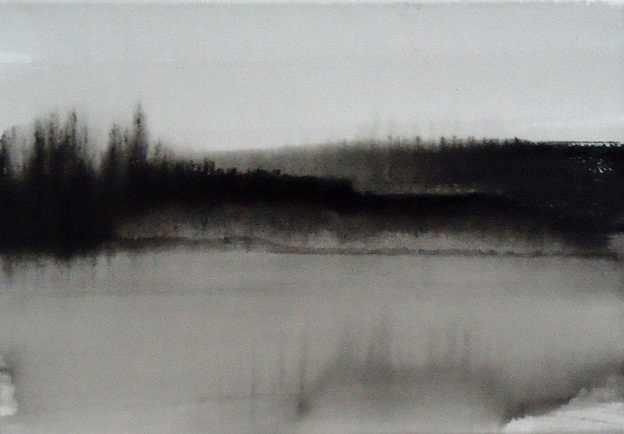 mi kyung lee blackscapes landschaftsmalerei in schwarz wei ausstellung rheda wiedenbrueck. Black Bedroom Furniture Sets. Home Design Ideas