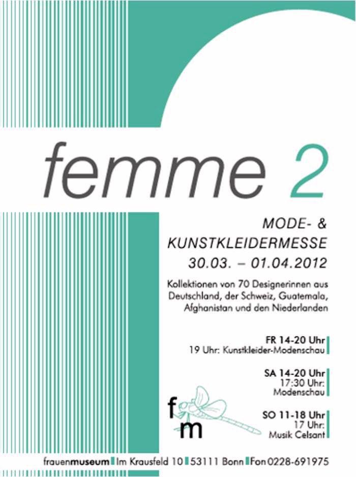 femme 2 - Mode- und Kunstkleidermesse  Kunstmesse Bonn