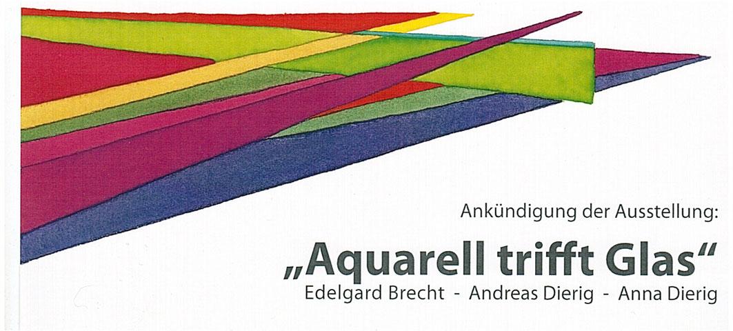 Aquarell trifft Glas