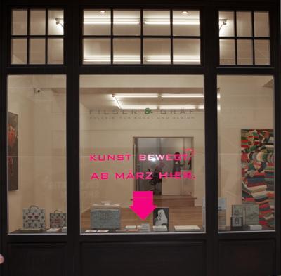 Filser & Gräf, Galerie für Kunst und Design präsentiert zur Eröffnung der neuen Räume die Einzelauss