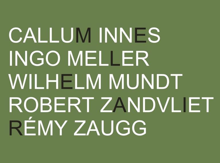 Callum Innes, Ingo Meller, Wilhelm Mundt, Robert Zandvliet, Remy Zaugg