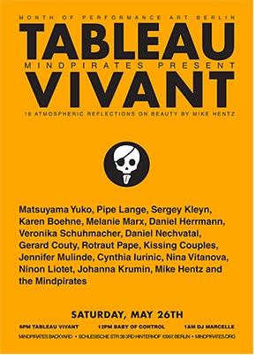 Mindpirates present TABLEAU VIVANT: 18 atmospheric reflections on beauty by Mike Hentz