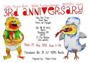 3d anniversary Freies Museum Berlin
