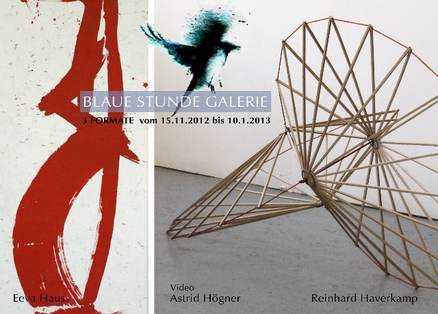 """""""3 Formate - Video, Skulptur und Abstrakte Malerei"""" in der Galerie BLAUE STUNDE"""