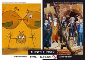 Kunstausstellung: Uwe Schürmann, Eckhard Sieber