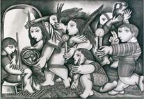 """Zeichnungen """"Hommage an Nelson Romero"""""""