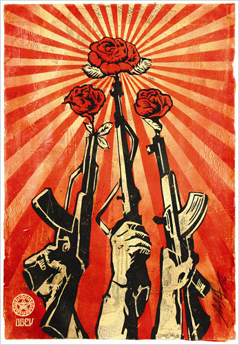 "Shepard Fairey ""Guns and Roses"""