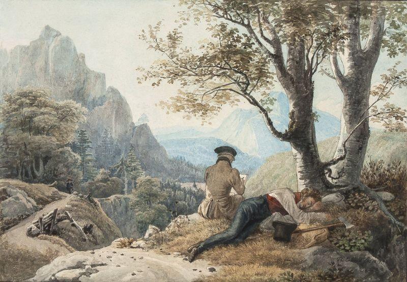 Lass Dich von der Natur anwehen...Landschaftszeichnung der Romantik und Gegenwart