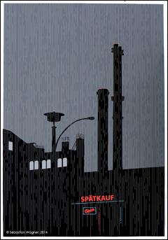 THIS TOWN - Siebdruck-Grafiken von Sebastian Wagner