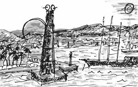 Der schwarze Leuchtturm von Oran