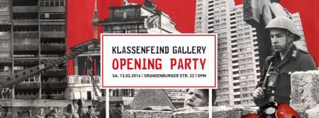 KLASSENFEIND GALLERY OPENING PARTY À LA TACHELES AM 13. FEBRUAR