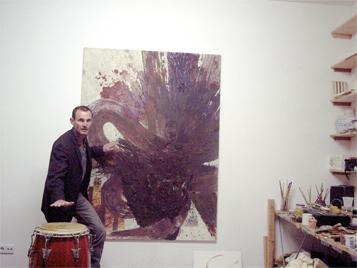 Congalerei - Malerei und Percussion Ausstellung Berlin