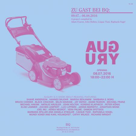 """Zu Gast bei BQ, Nr. 20: """"Augury"""" Compiled by Adam Fearon, John Holten, Caique Tizzi, Raphaela Vogel Ausstellung Berlin"""