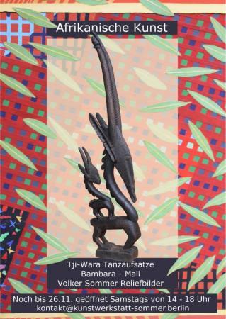 Umweltverständnis der Bambara im Dialog. Tji Wara Objekte in unserem Atelier
