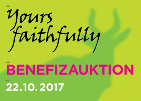 Yours faithfully - Die Benefizauktion zur Unterstützung der Arbeit des Kunstvereins Tiergarten Auktion Berlin
