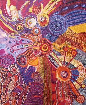 DON'T FORGET TO SING! Aboriginal Art aus den Western APY Lands  Ausstellung München