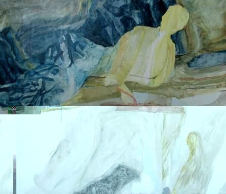 Malerei und Scherenschnitte