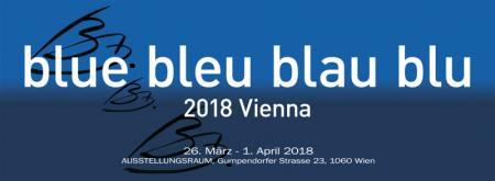 Blue bleu blau blu 2018 Vienna Ausstellung Ausstellungsraum, Gumpendorfer Strasse 23, 1060 Wi