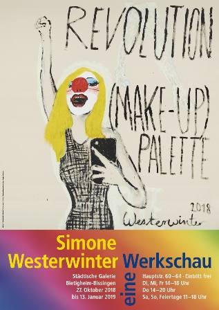 Revolution (Make-up) Palette. Simone Westerwinter - eine Werkschau Ausstellung Bietigheim-Bissingen