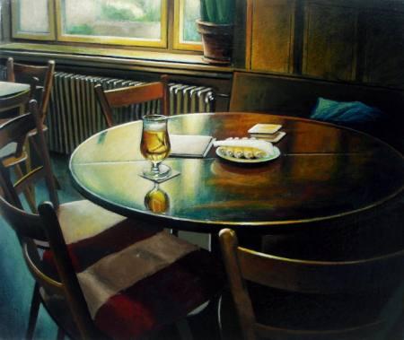 Metulczki - Blaue Phase / Malerei Ausstellung Leipzig
