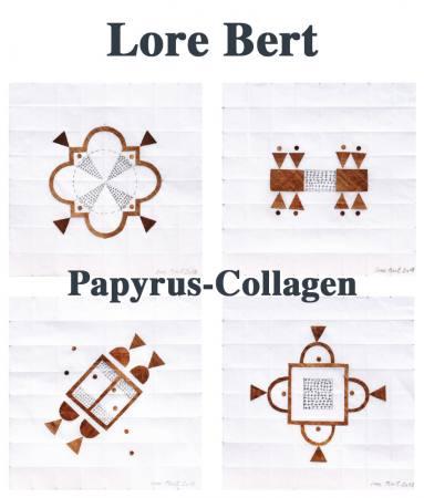 Lore Bert. Papyrus-Collagen Ausstellung Mainz