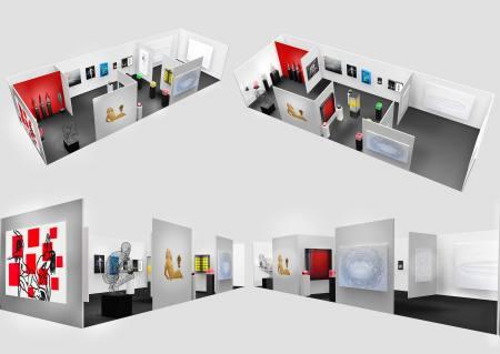 HEITSCH GALLERY ART KARLSRUHE Kunstmesse Stand A12 Halle II