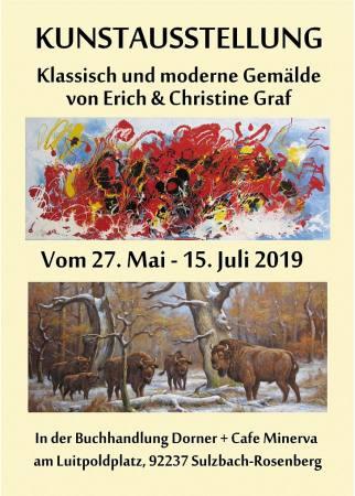 Kunstausstellung Klassisch & Moderne im Cafe Minerva Auktion Sulzbach-Rosenberg