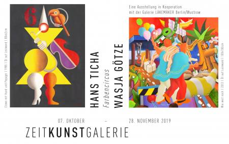 Farbencircus  -  WASJA GÖTZE und HANS TICHA   I   Malerei + Grafik Ausstellung Halle Saale