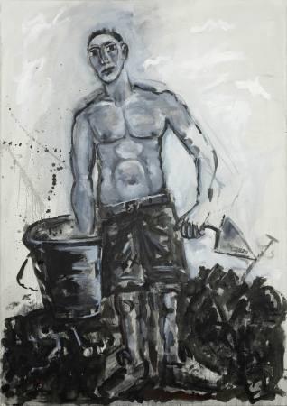 BETON. Neue Bilder zum Arbeiter von Ralf Kerbach Ausstellung Berlin