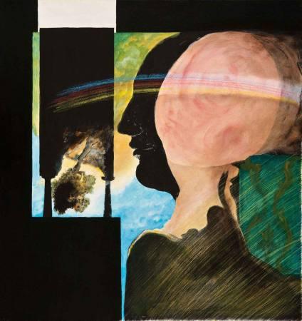 Die Regenbogenfalle - Im Dialog mit einer Installation von Simone Westerwinter Ausstellung Kornwestheim