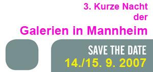 3. Kurze Nacht der Galerien - Saisonstart in Mannheim Kunstmesse Mannheim