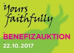 Yours faithfully - Die Benefizauktion zur Unterstützung der Arbeit des Kunstvereins Tiergarten