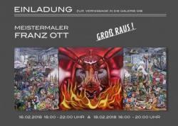 """Retrospektive des Meistermalers FRANZ OTT  """"GROß RAUS !"""""""