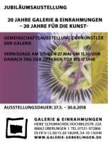 Jubiläumsausstellung 20 Jahre Galerie&Einrahmungen 20 Jahre für die Kunst