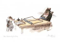 Ganz oder gar nicht - Ausstellung mit Karikaturen von Peter Bauer bei der Kunsthandlung Langheinz