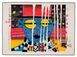 Hundertwasser Ausstellung - Original Druckgrafik