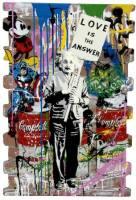 "Mr. Brainwash –  works on wood, metal, steel and bricks"" GALERIE FRANK FLUEGEL , 2021"