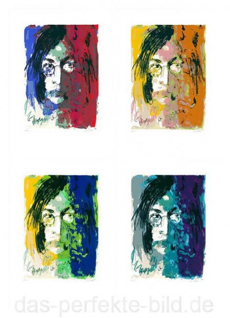 Armin Mueller-Stahl Tribute To John Lennon (Mappenwerk mit 4 Siebdruck