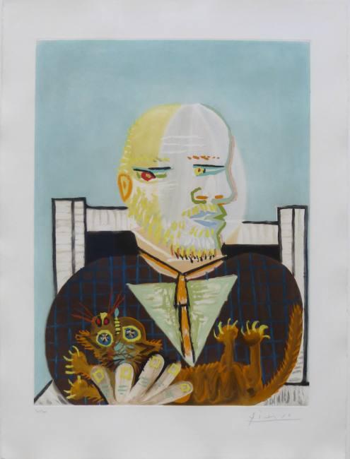 Pablo Picasso Vollard et son chat