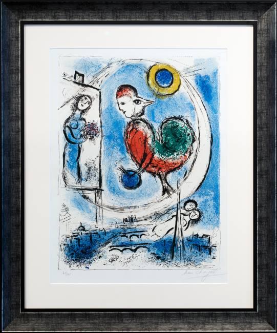 Marc Chagall Le Coq sur Paris