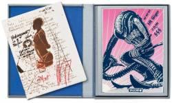 H.R. Giger signierter Druck Untitled
