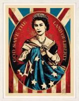 Grafik Shepard Fairey God save the Queen Druckg ...