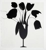 Grafik Donald Sultan Black Tulips and Vase ...