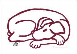 Grafik Jacqueline Ditt Dog  Red ...