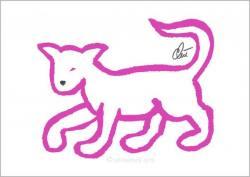Grafik Jacqueline Ditt Pink Cat ...