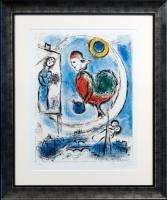 Grafik Marc Chagall Le Coq sur Paris ...