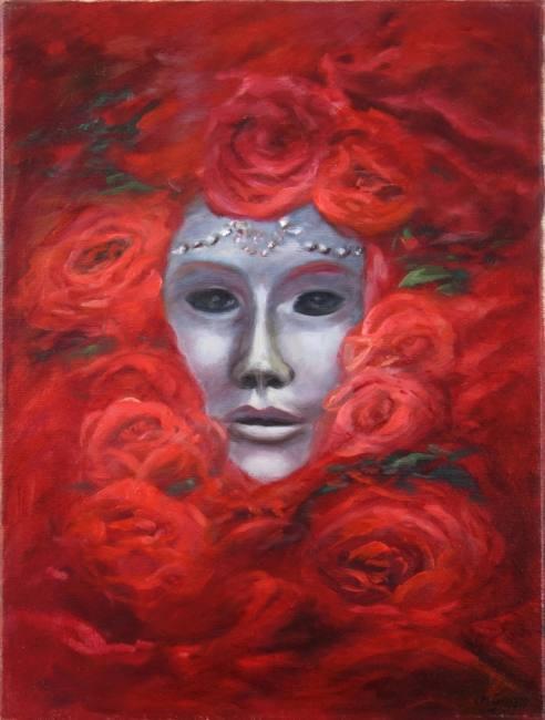 Christine Graf Masken mit Rosen