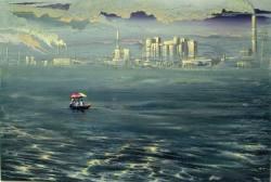 Gemälde Yulia Kazakova In der Suche nach dem gel ...