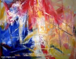 Rainer Gödde Flammen Malerei